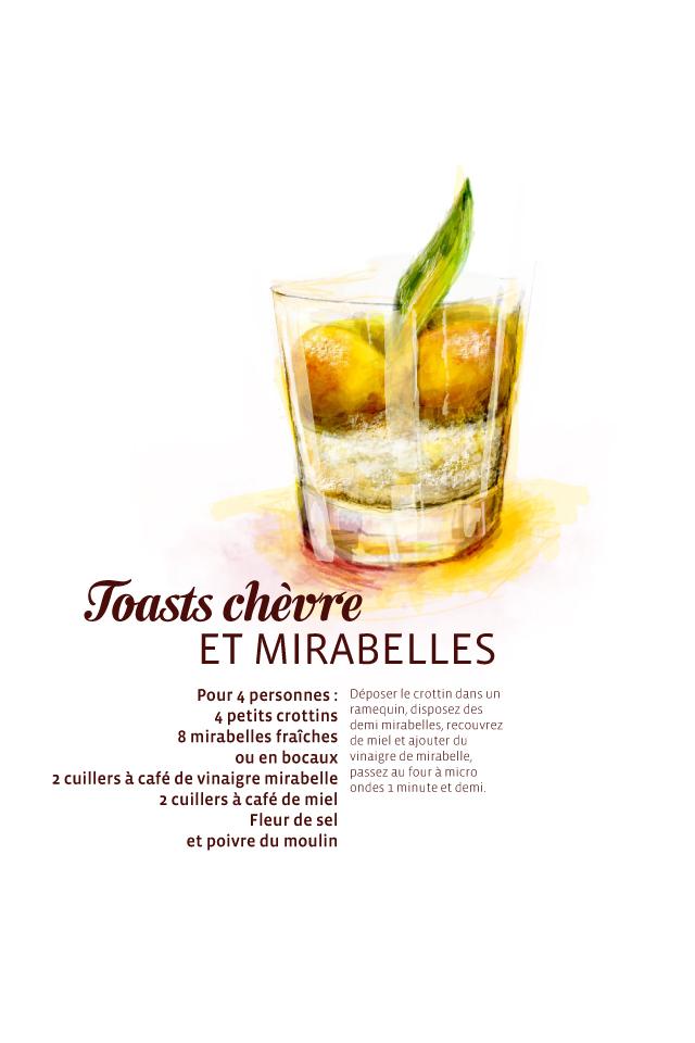 Recette toasts chèvre et mirabelles