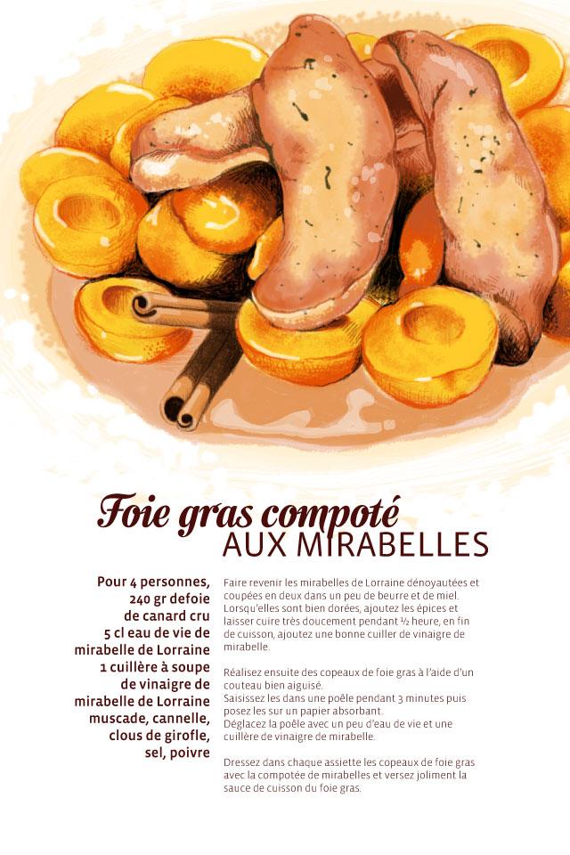 Recette Foie gras compoté aux mirabelles
