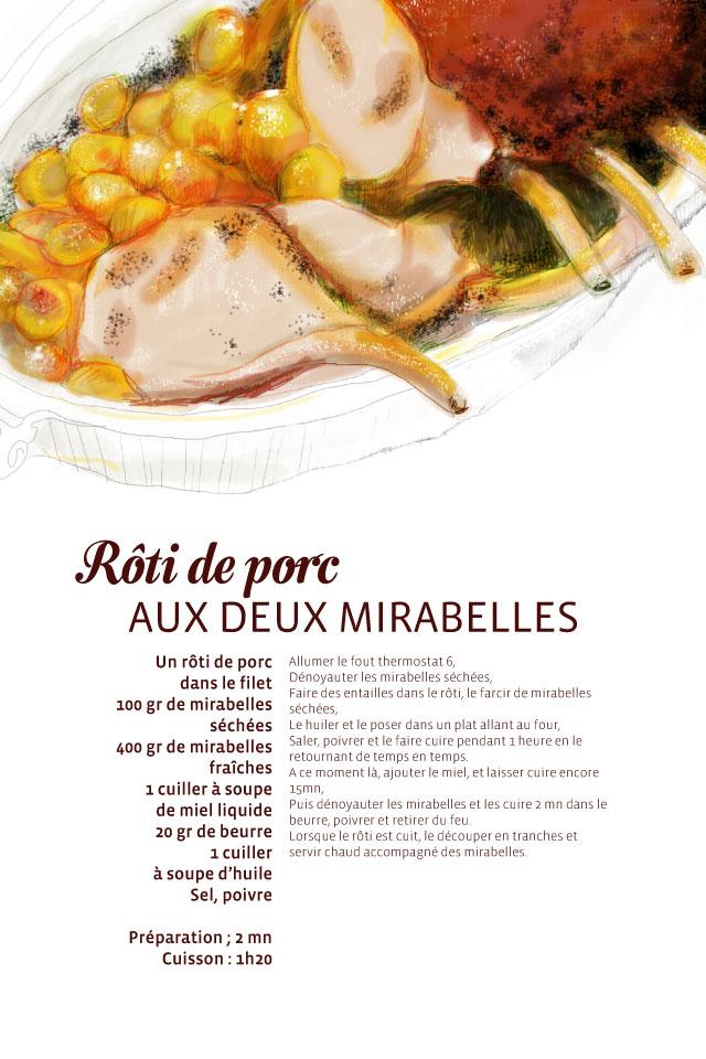 Recette rôti de porc aux deux mirabelles